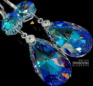 Swarovski Kolczyki Blue Aurora