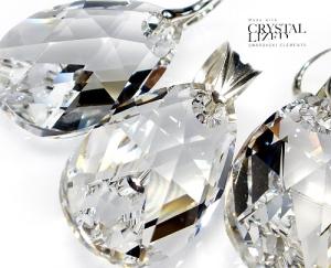 Kolczyki Wisiorek Swarovski Duze Migdaly Crystal