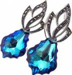BLUE ADMIRE SPECIAL EARRINGS SWAROVSKI CRYSTALS