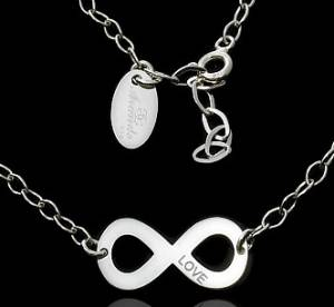 NECKLACE INFINITY TRENDY COLLECTION STERLING SILVER 925 CELEBRITY