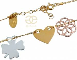 SENSATION TRIO NECKLACE CELEBRITY GOLD SILVER