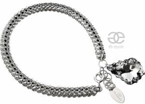SWAROVSKI UNIQUE BRACELET CRYSTALLIZED BAROQUE COMET STERLING SILVER 925