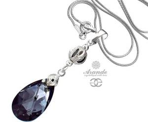 SWAROVSKI BEAUTIFUL NECKLACE SILVER NIGHT STERLING SILVER