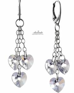 SWAROVSKI BEAUTIFUL LONG CRYSTAL EARRINGS STERLING SILVER 925
