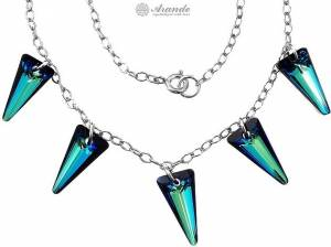 SWAROVSKI BEAUTIFUL NECKLACE SPIKE BLUE STERLING SILVER 925