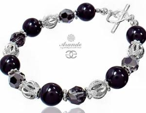 SWAROVSKI UNIQUE BRACELET CRYSTAL BLACK STERLING SILVER 925