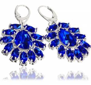 SWAROVSKI UNIQUE EARRINGS AURORA AZURE STERLING SILVER (1)