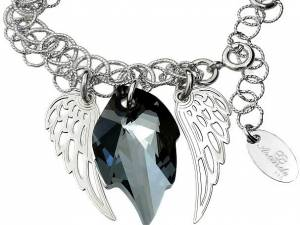 SWAROVSKI bransoletka NIGHT ANGEL WING SREBRO