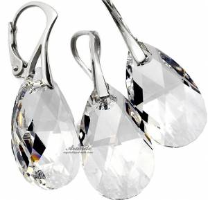 SWAROVSKI CLASSIC EARRINGS PENDANT CRYSTAL STERLING SILVER 925