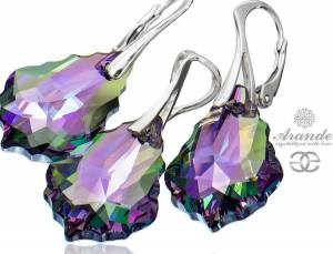 NEW SWAROVSKI BEAUTIFUL EARRINGS PENDANT PARADISE SHINE STERLING SILVER 925