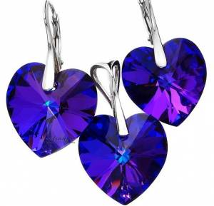 SWAROVSKI BEAUTIFUL EARRINGS PENDANT HELIO HEART STERLING SILVER 925