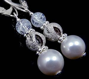 SWAROVSKI BEAUTIFUL EARRINGS CRYSTAL WHITE STERLING SILVER 925