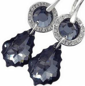 SILVER NIGHT BEAUTIFUL EARRINGS SWAROVSKI CRYSTALS