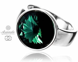 SWAROVSKI BEAUTIFUL RING *EMERALD PARIS* STERLING SILVER 925