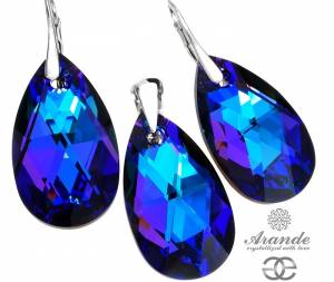 SWAROVSKI EARRINGS PENDANT HELIO STERLING SILVER
