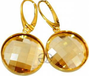 SWAROVSKI CRYSTALS BEAUTIFUL EARRINGS GOLD PLATED SILVER