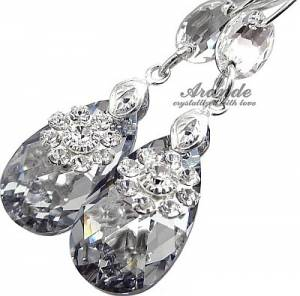 SWAROVSKI *COMET LOTUS* EARRINGS STERLING SILVER CERTIFICATE HANDMADE