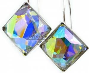 SWAROVSKI *AURORA* EARRINGS STERLING SILVER CERTIFICATE HANDMADE