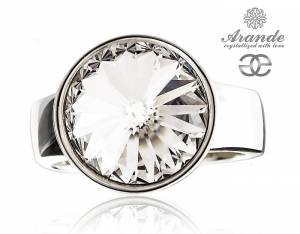 SWAROVSKI BEAUTIFUL RING *CRYSTAL PARIS* STERLING SILVER 925