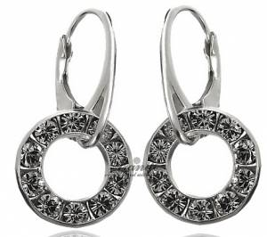 SWAROVSKI CRYSTALS EARRINGS *SENSATION* STERLING SILVER 925 CERTIFICATE HANDMADE