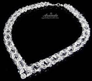 CRYSTAL HELIX WEDDING NECKLACE SWAROVSKI CRYSTALS