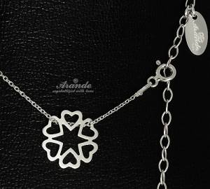 TRENDY NECKLACE *SENSATION HEARTS* STERLING SILVER 925