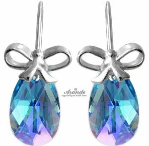 SWAROVSKI BEAUTIFUL EARRINGS AQUA STERLING SILVER 925