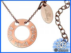 SENSATION RING NECKLACE CELEBRITY ROSE GOLD ENGRAVER