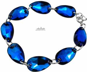 SWAROVSKI BEAUTIFUL BRACELET BERMUDA BLUE STERLING SILVER 925