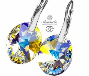 NEWEST SWAROVSKI BEAUTIFUL EARRINGS XILION AURORA STERLING SILVER
