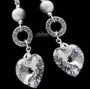 SWAROVSKI UNIQUE EARRINGS *CRYSTALEAR COMET* STERLING SILVER 925