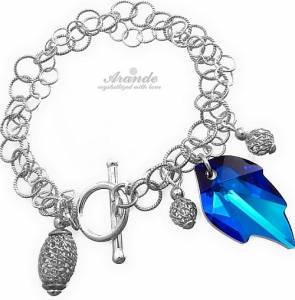 SWAROVSKI UNIQUE BRACELET BLUE LEAF STERLING SILVER 925