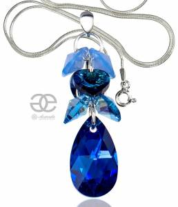 SWAROVSKI BEAUTIFUL NECKLACE BLUE ZODIAC STERLING SILVER