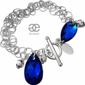 SWAROVSKI BEAUTIFUL BRACELET BLUE COMET STERLING SILVER 925