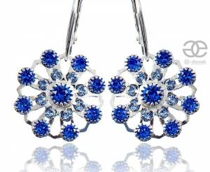 SWAROVSKI  EARRINGS SAPPHIRE FLOW STERLING SILVER