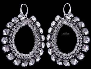 SWAROVSKI UNIQUE EARRNGS CRYSTALLIZED STERLING SILVER 925
