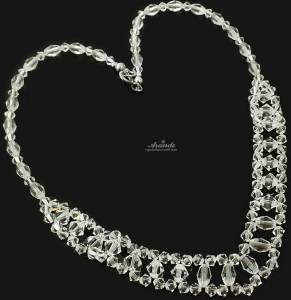 SWAROVSKI BEAUTIFUL WEDDING CRYSTAL NECKLACE STERLING SILVER 925