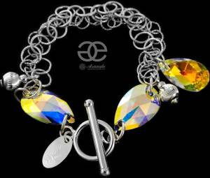 SWAROVSKI BEAUTIFUL BRACELET SUNSHINE AURORA STERLING SILVER 925