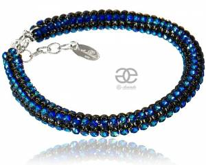 CRYSTALLIZED BEAUTIFUL BRACELET BERMUDA BLUE SWAROVSKI CRYSTALS