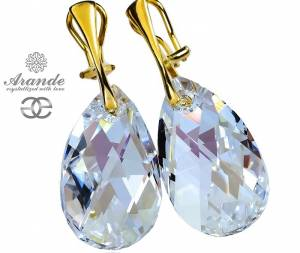 SWAROVSKI CLIPSES MOONLIGHT GOLD PLATED STERLING SILVER