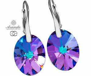NEWEST SWAROVSKI BEAUTIFUL EARRINGS XILION VITRAIL STERLING SILVER