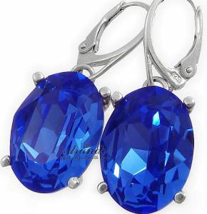 SAPPHIRE BEAUTIFUL EARRINGS SWAROVSKI CRYSTALS