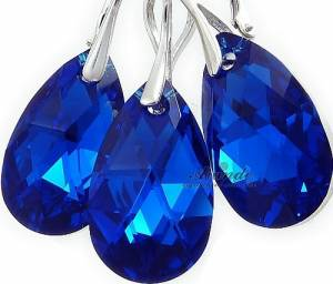 SWAROVSKI JEWELLERY SET BLUE COMET STERLING SILVER