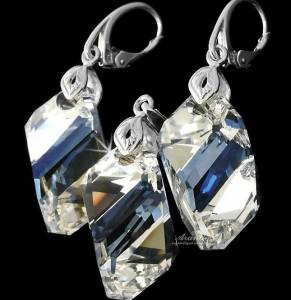 SWAROVSKI BEAUTIFUL EARRINGS PENDANT MOONLIGHT STERLING SILVER 925