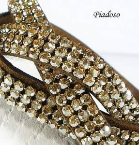 SWAROVSKI BEAUTIFUL BRACELET GOLDEN CRYSTALLIZED MESH ALCANTARA CERTIFICATE