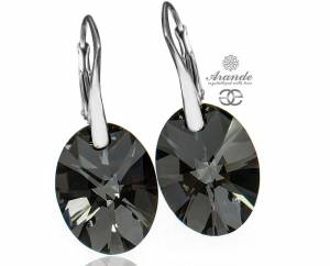NEWEST SWAROVSKI BEAUTIFUL EARRINGS XILION SILVER NIGHT  STERLING SILVER