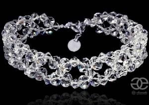 SWAROVSKI UNIQUE WEDDING BRACELET CRYSTAL BRIOLETTE STERLING SILVER 925