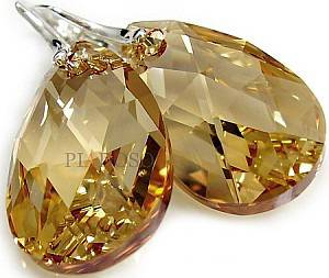 SWAROVSKI duży komplet GOLDEN CRYSTAL 28MM