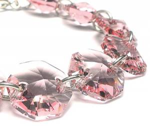 SUPER CENA SWAROVSKI Bransoletka Light Rose