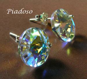 SWAROVSKI UNIQUE EARRINGS AURORA STERLING SILVER 925